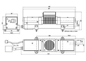 Dimensions of the LQ115 laser head