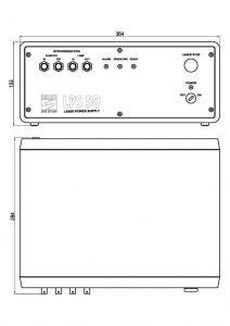 Dimensions of the LQ115 power supply