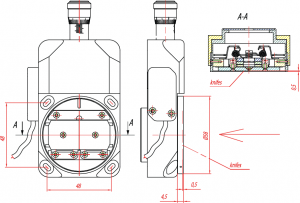 To avoid a breakdown of the slit mechanism it is prohibited to fix any units weighing more than 1 kg to the slit housing