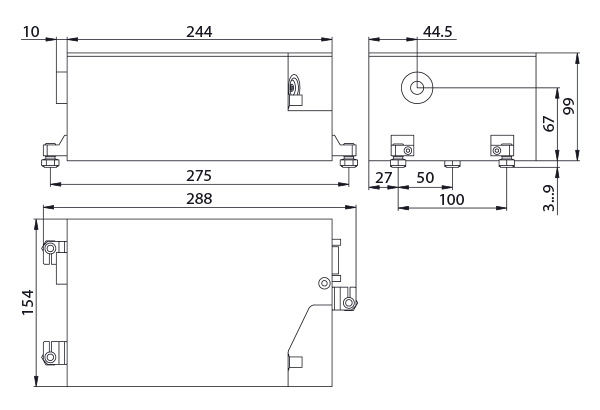 The JX330 laser head outline drawing