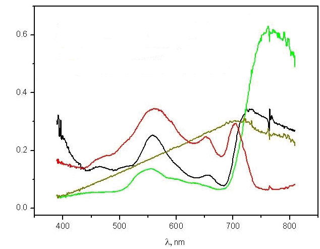 Normalised luminance factor spectra of natural environment objects