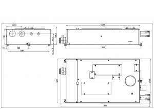 габаритные размеры излучателя LQ830 лазера