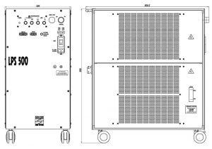 габаритные размеры излучателя LQ215-D лазера