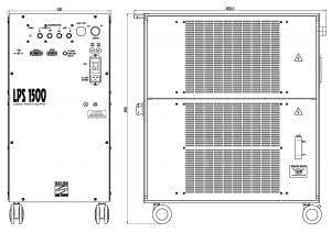 габаритные размеры излучателя LQ529 лазера