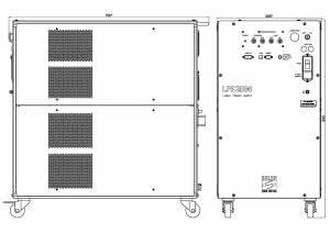 габаритные размеры блока питания LQ830 лазера