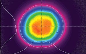 профиль луча второй гармоники лазера QX500532нм, ближняя зона