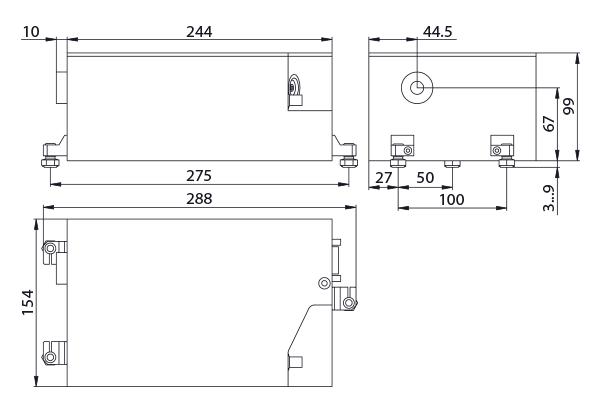 габаритные размеры лазера JX330