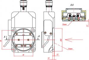 Во избежание выхода механизма щели из строя категорически запрещается закреплять на корпусе щели узлы весом более 1кг!