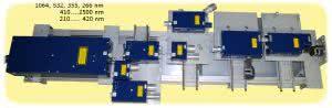многоволновая перестраиваемая лазерная система на базе nd:yag лазера с генераторами гармоник и с параметрическим генератором света на кристаллах вво