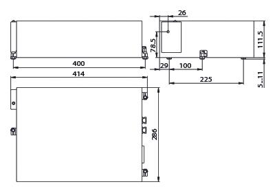 габаритные размеры излучателя лазера PX110