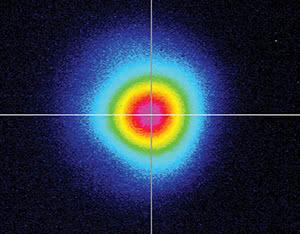 Профиль луча лазера QC110 ближняя зона