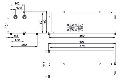 профиль луча второй гармоники лазера QX500 532 нм, ближняя зона