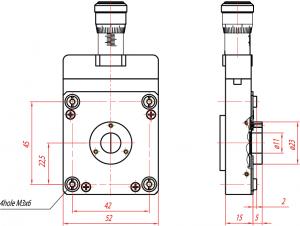 Во избежание выхода механизма щели из строя категорически запрещается закреплять на корпусе щели узлы весом более 1кг