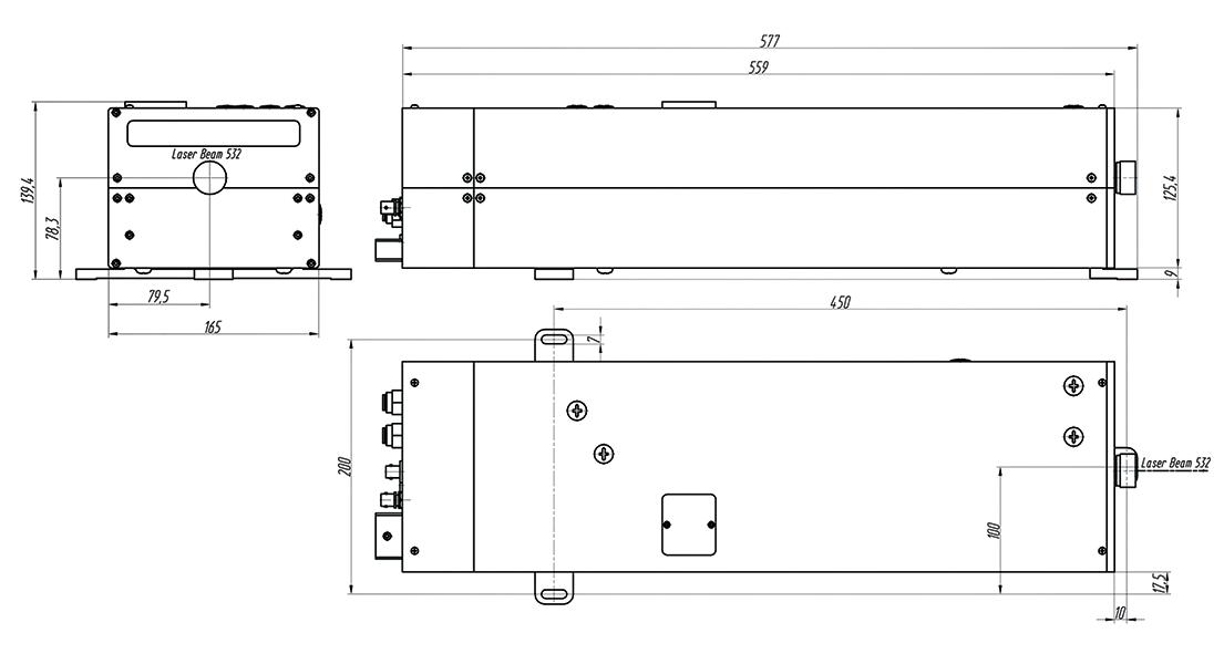 Nd:YAG лазер с диодной накачкой, высокой импульсной энергией и воздушным охлаждением QX500B